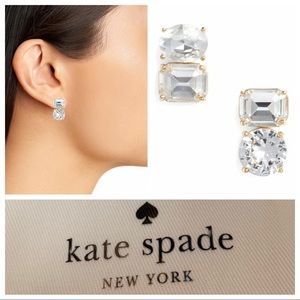 Kate Spade Double Drop Assymetrical Earrings